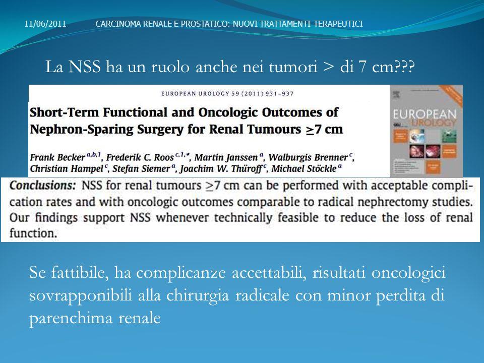 La NSS ha un ruolo anche nei tumori > di 7 cm