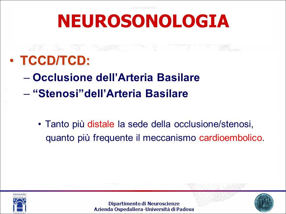 NEUROSONOLOGIA TCCD/TCD: Occlusione dell'Arteria Basilare
