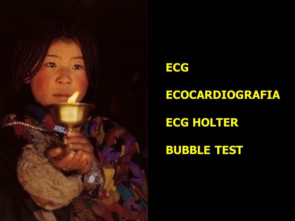 ECG ECOCARDIOGRAFIA ECG HOLTER BUBBLE TEST