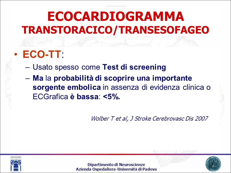ECOCARDIOGRAMMA TRANSTORACICO/TRANSESOFAGEO