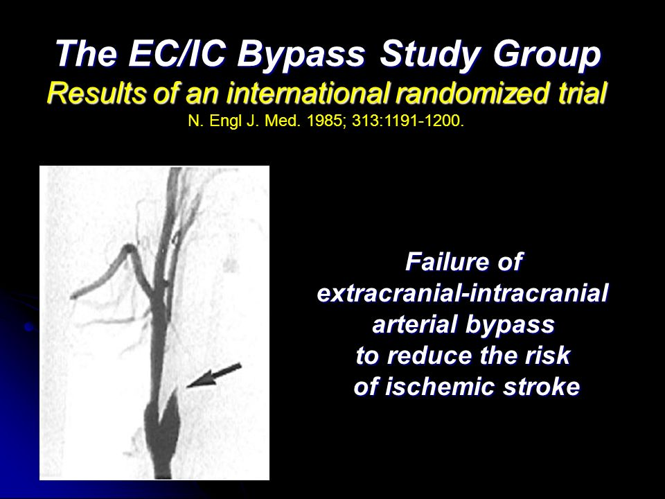 The EC/IC Bypass Study Group extracranial-intracranial