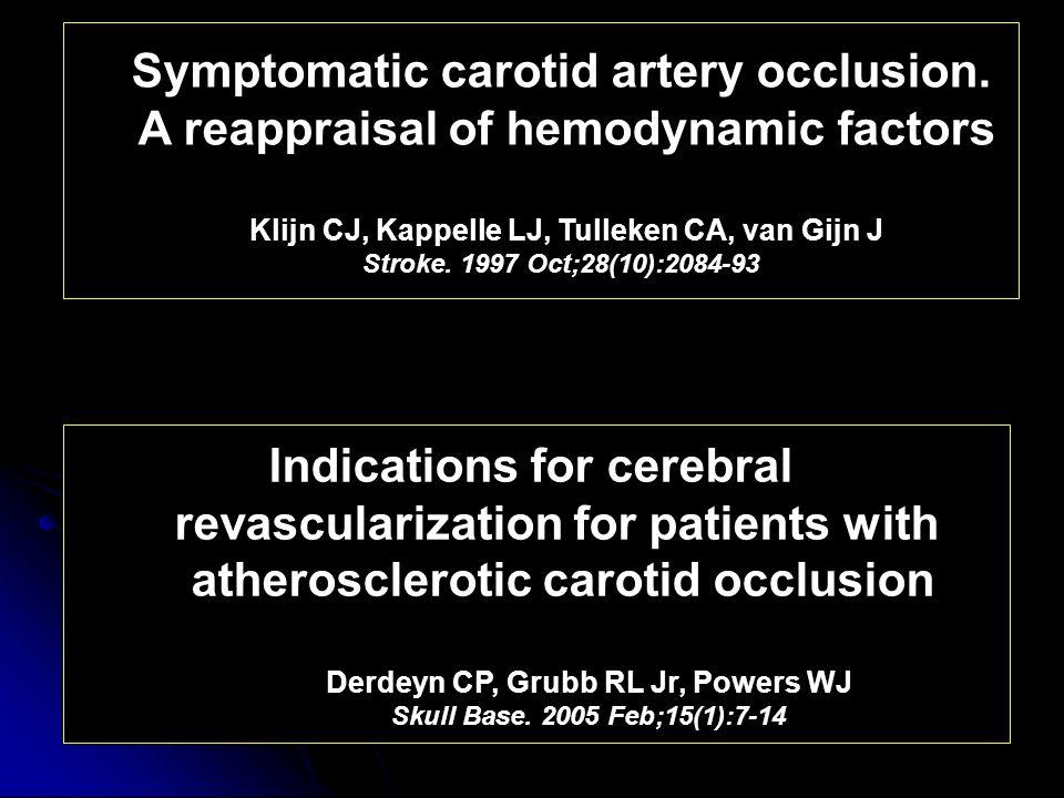 Symptomatic carotid artery occlusion.