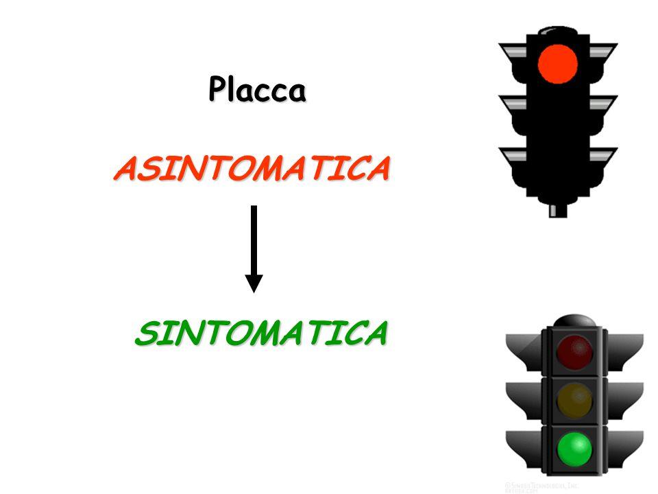 Placca ASINTOMATICA SINTOMATICA