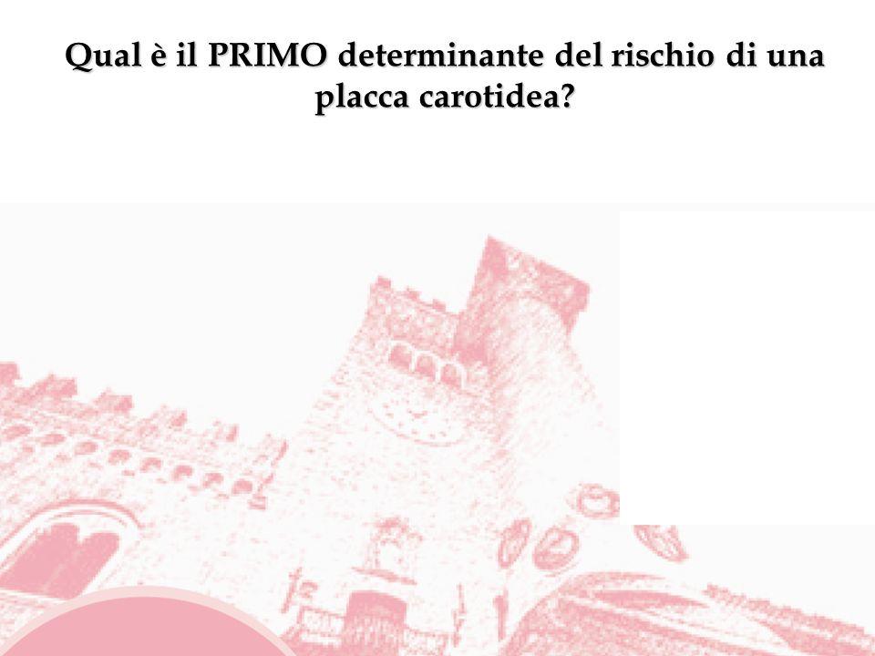 Qual è il PRIMO determinante del rischio di una placca carotidea