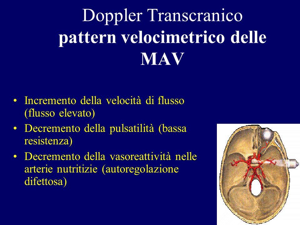 Doppler Transcranico pattern velocimetrico delle MAV