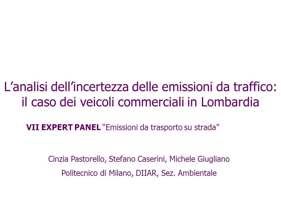 L'analisi dell'incertezza delle emissioni da traffico: il caso dei veicoli commerciali in Lombardia