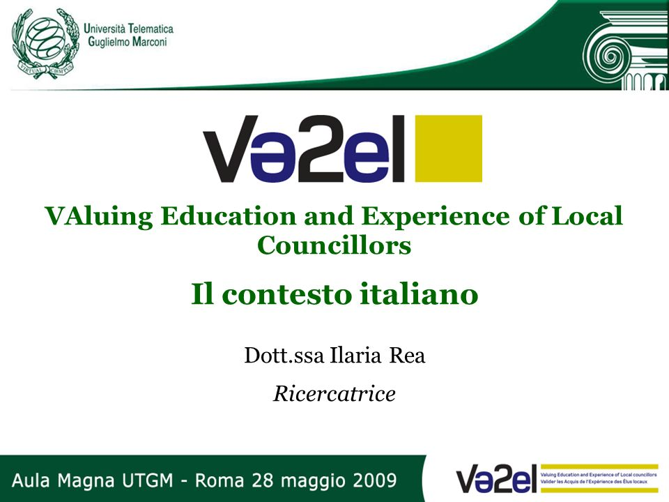 VAluing Education and Experience of Local Councillors