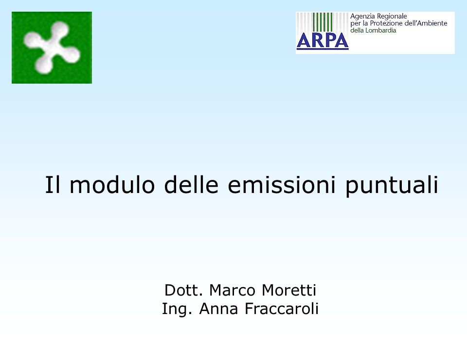Il modulo delle emissioni puntuali