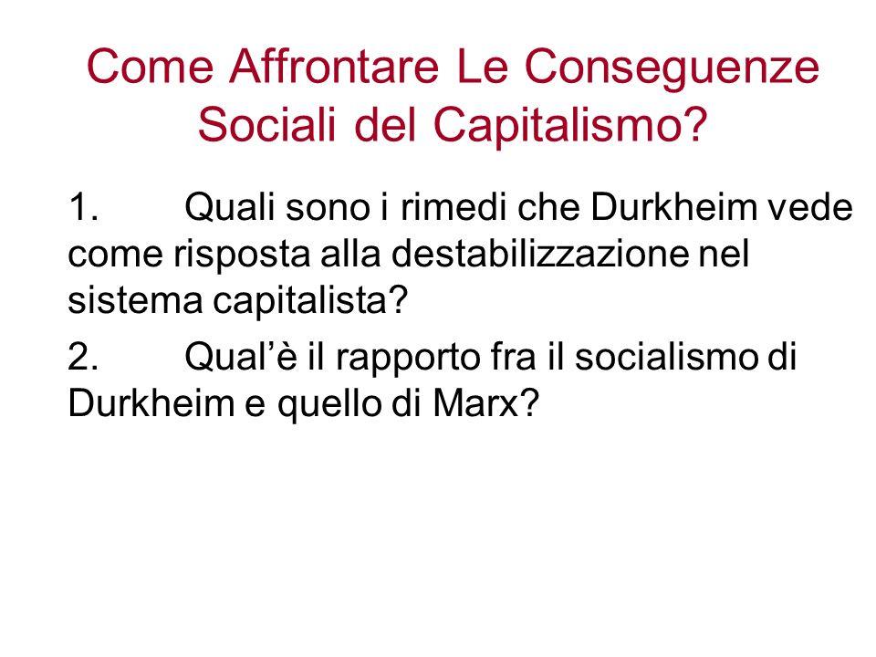 Come Affrontare Le Conseguenze Sociali del Capitalismo