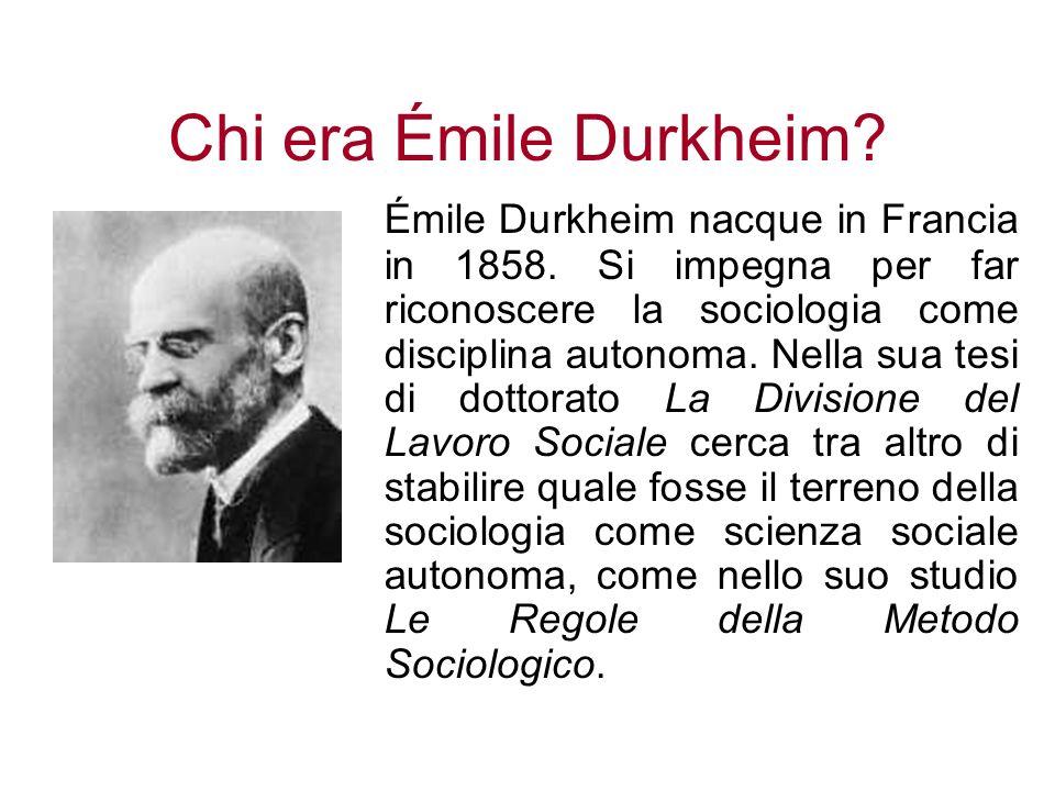 Chi era Émile Durkheim