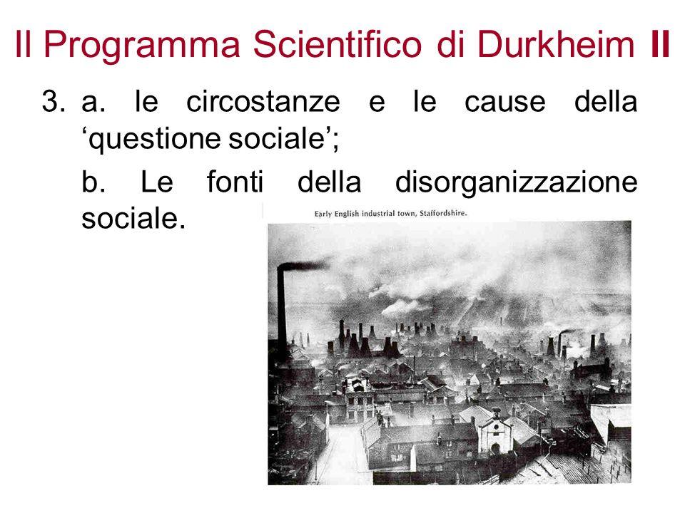 Il Programma Scientifico di Durkheim II