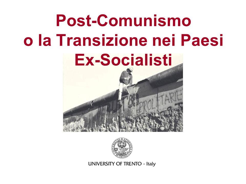 Post-Comunismo o la Transizione nei Paesi Ex-Socialisti