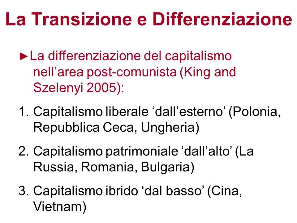 La Transizione e Differenziazione