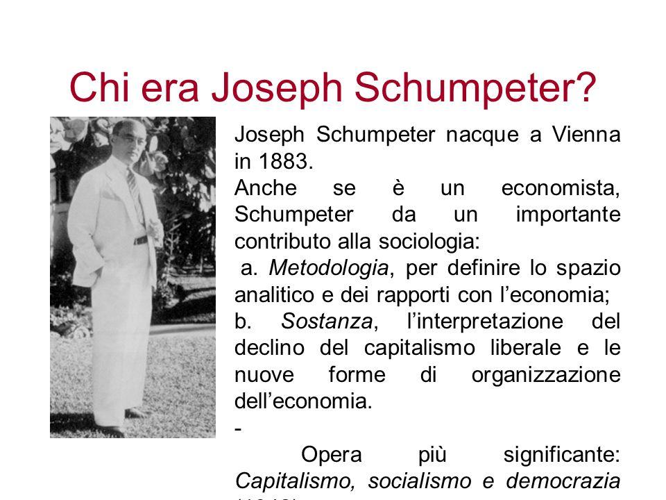 Chi era Joseph Schumpeter