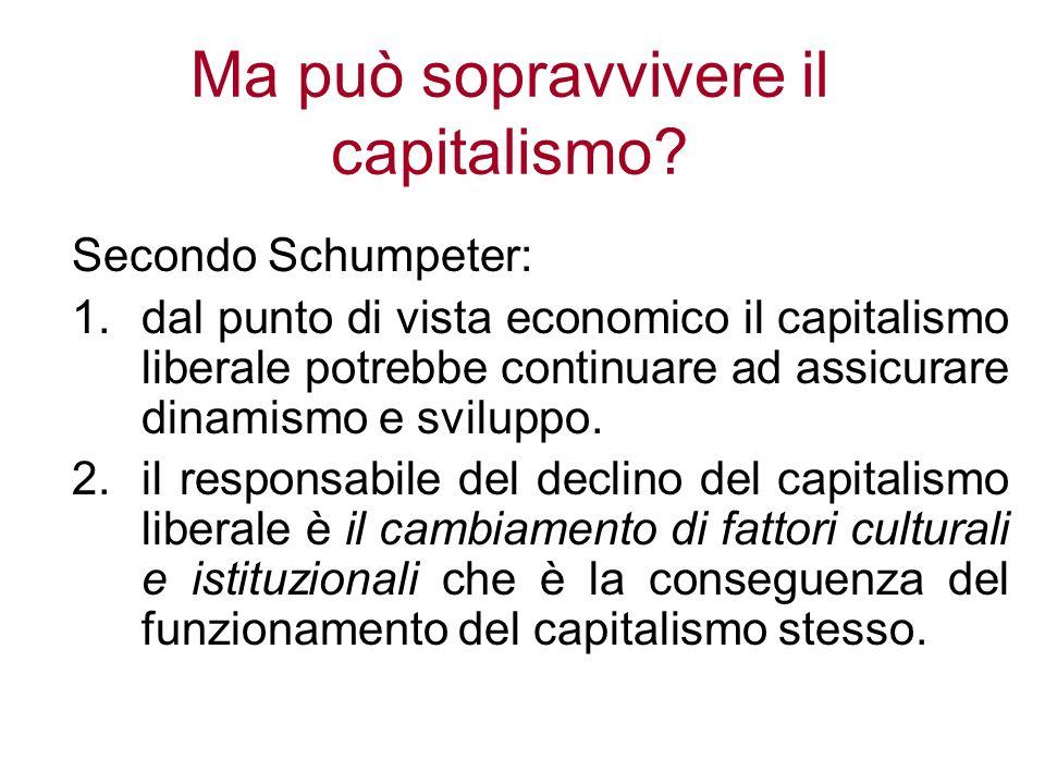Ma può sopravvivere il capitalismo