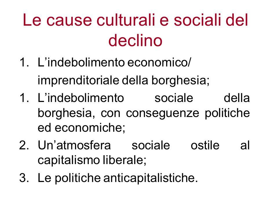 Le cause culturali e sociali del declino