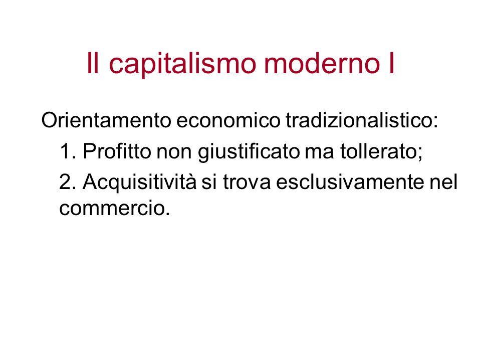 Il capitalismo moderno I