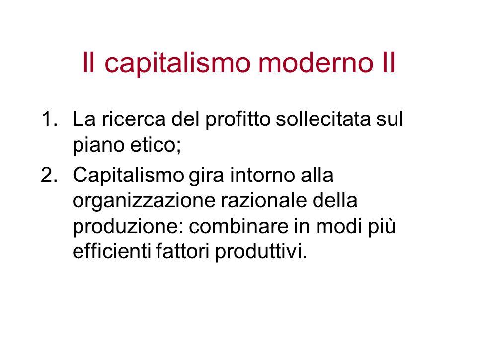 Il capitalismo moderno II