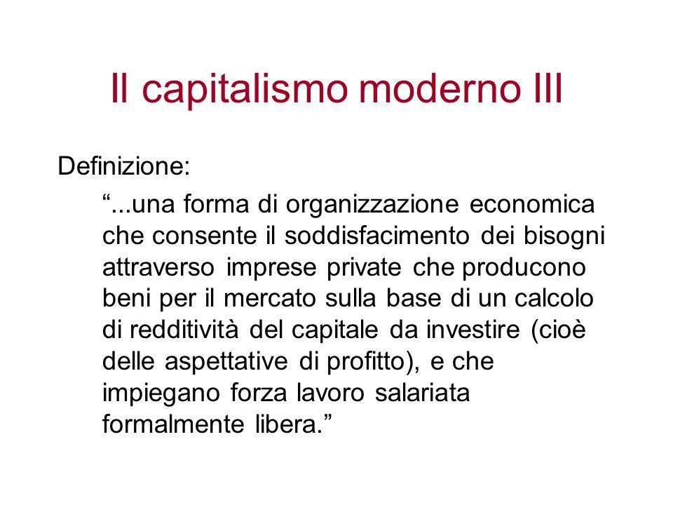 Il capitalismo moderno III