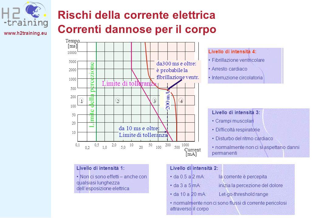 Rischi della corrente elettrica Correnti dannose per il corpo