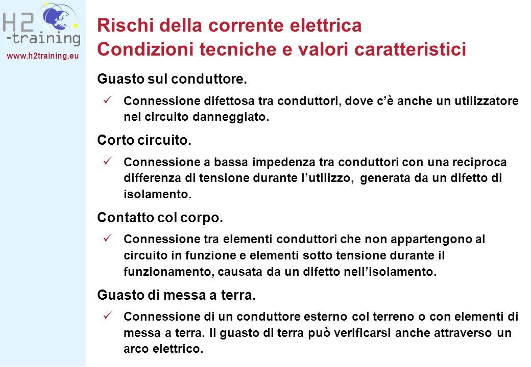 Rischi della corrente elettrica Condizioni tecniche e valori caratteristici