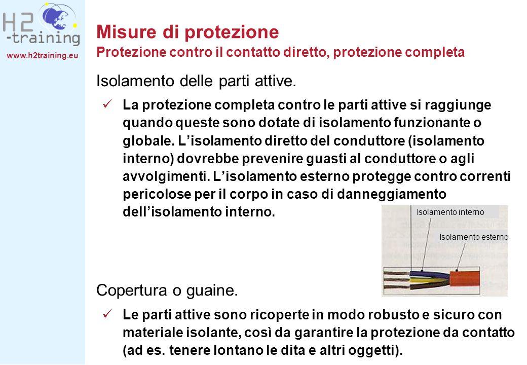 Misure di protezione Protezione contro il contatto diretto, protezione completa