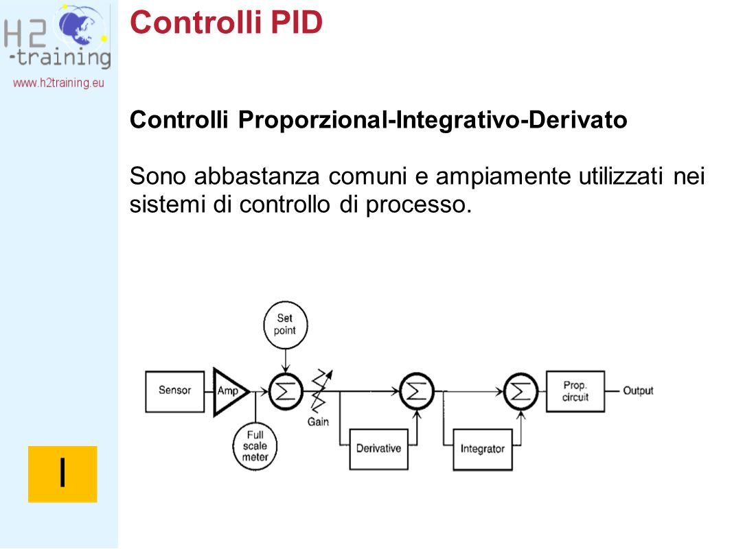 I Controlli PID Controlli Proporzional-Integrativo-Derivato