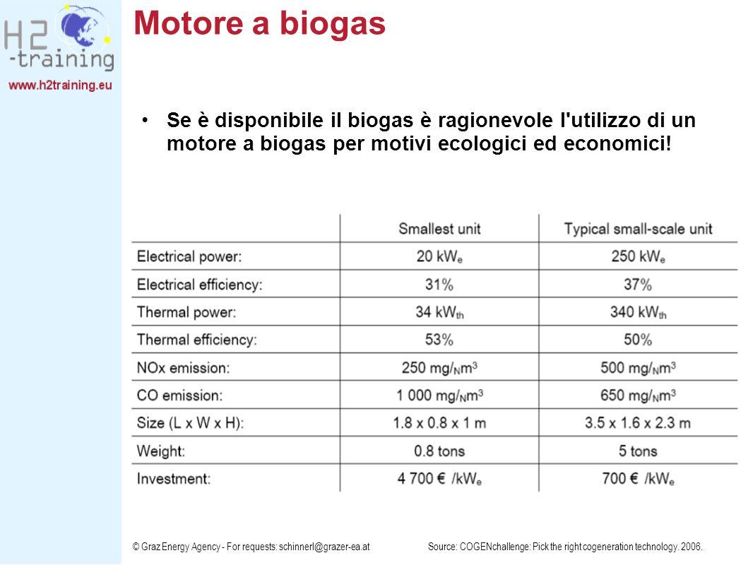 Motore a biogas Se è disponibile il biogas è ragionevole l utilizzo di un motore a biogas per motivi ecologici ed economici!