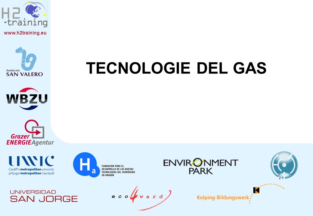 TECNOLOGIE DEL GAS Chapter 7 Title: Gas Technology