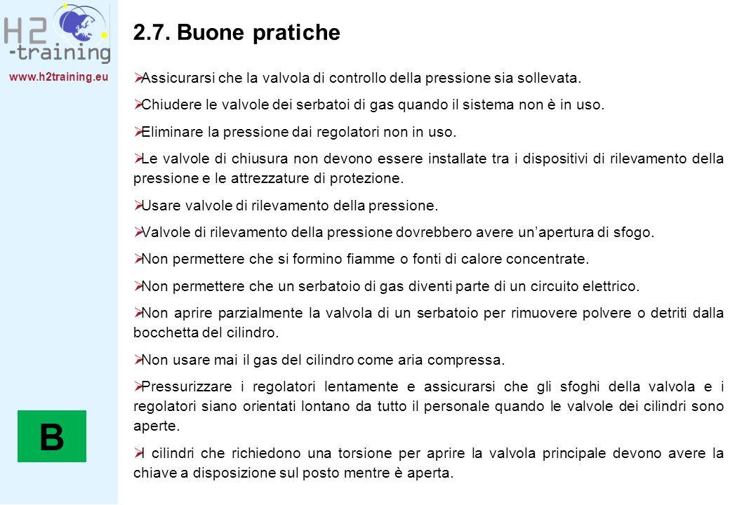 2.7. Buone pratiche Assicurarsi che la valvola di controllo della pressione sia sollevata.