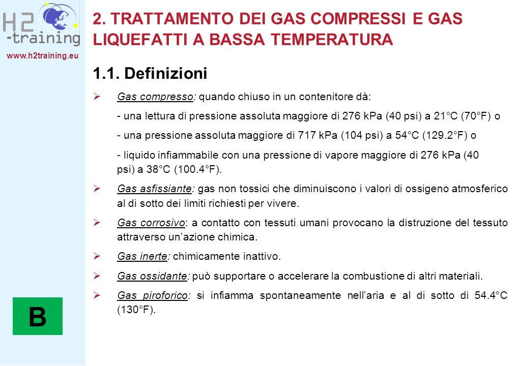 2. TRATTAMENTO DEI GAS COMPRESSI E GAS LIQUEFATTI A BASSA TEMPERATURA