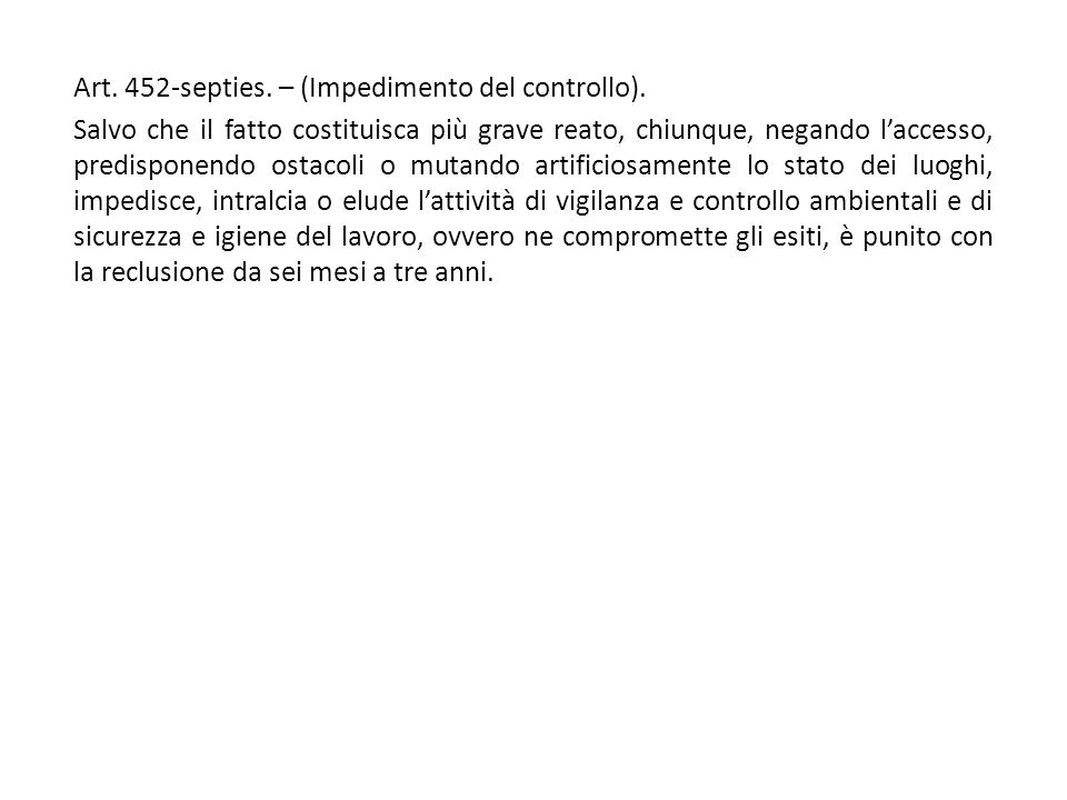 Art. 452-septies. – (Impedimento del controllo).