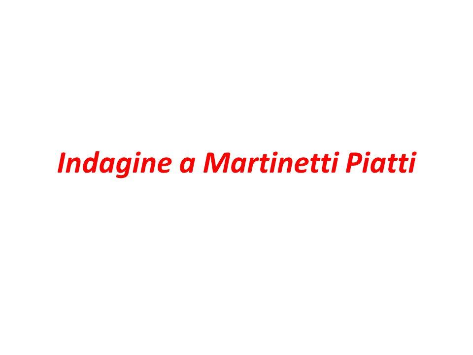 Indagine a Martinetti Piatti