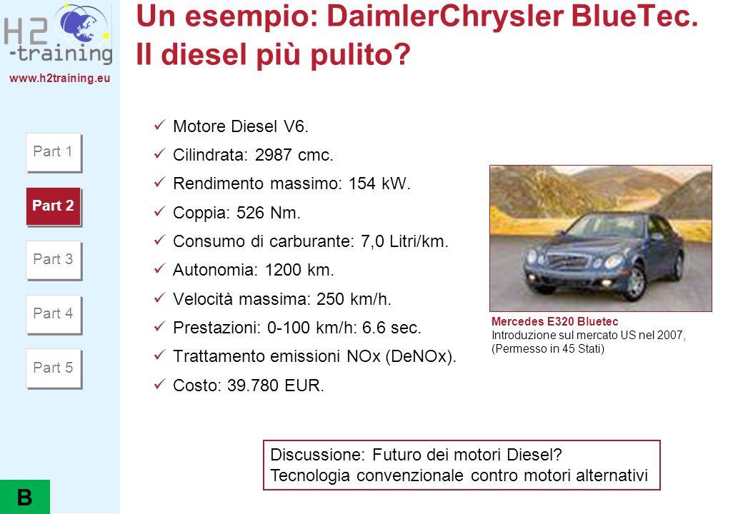 Un esempio: DaimlerChrysler BlueTec. Il diesel più pulito