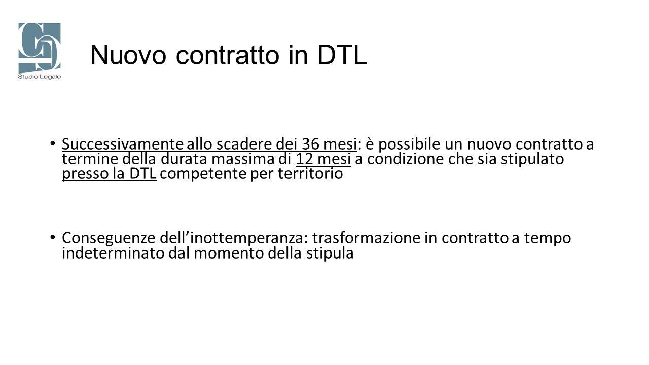 Nuovo contratto in DTL