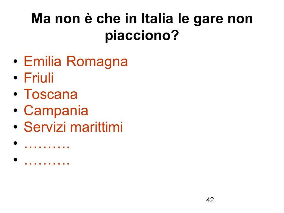 Ma non è che in Italia le gare non piacciono