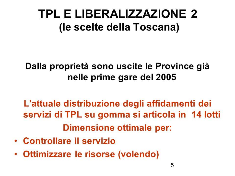 TPL E LIBERALIZZAZIONE 2 (le scelte della Toscana)