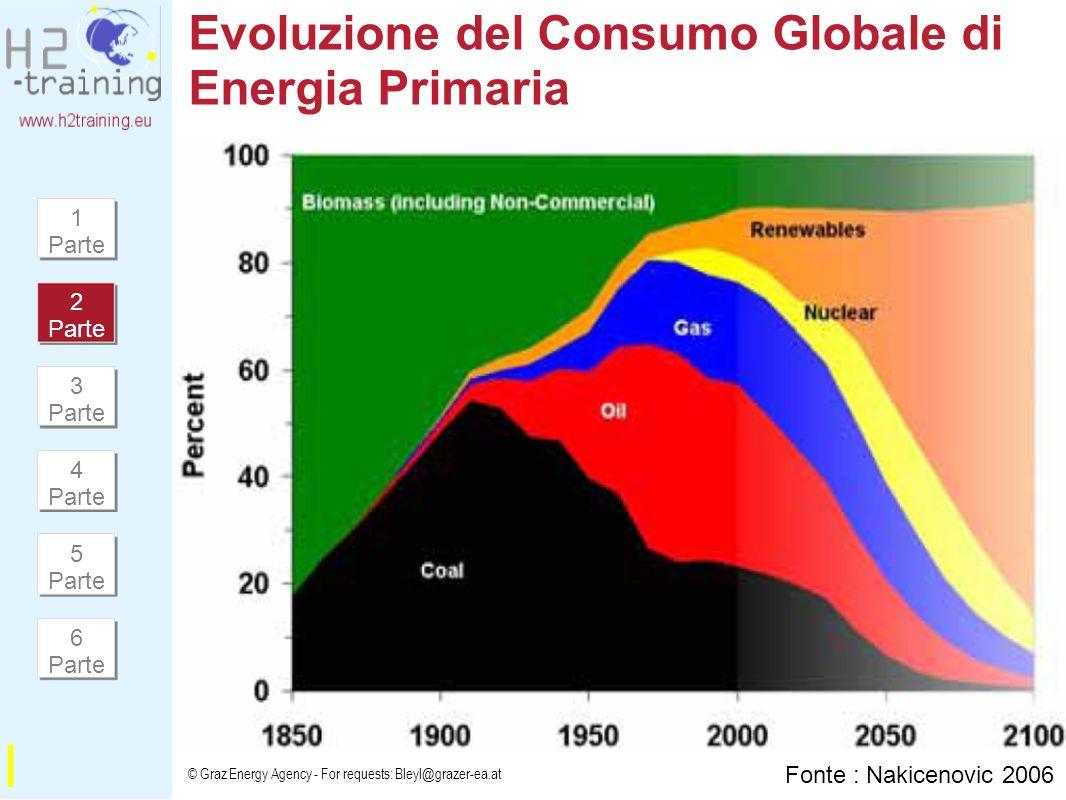 Evoluzione del Consumo Globale di Energia Primaria