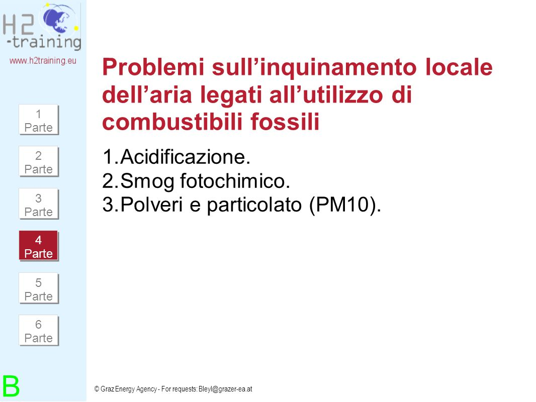 Problemi sull'inquinamento locale dell'aria legati all'utilizzo di combustibili fossili