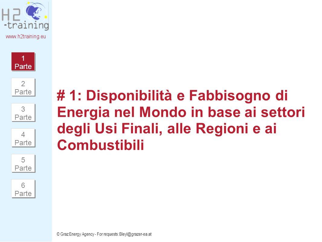 1 Parte 2 Parte. # 1: Disponibilità e Fabbisogno di Energia nel Mondo in base ai settori degli Usi Finali, alle Regioni e ai Combustibili.