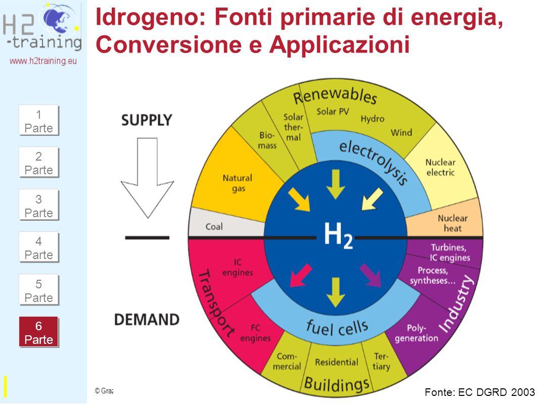 Idrogeno: Fonti primarie di energia, Conversione e Applicazioni