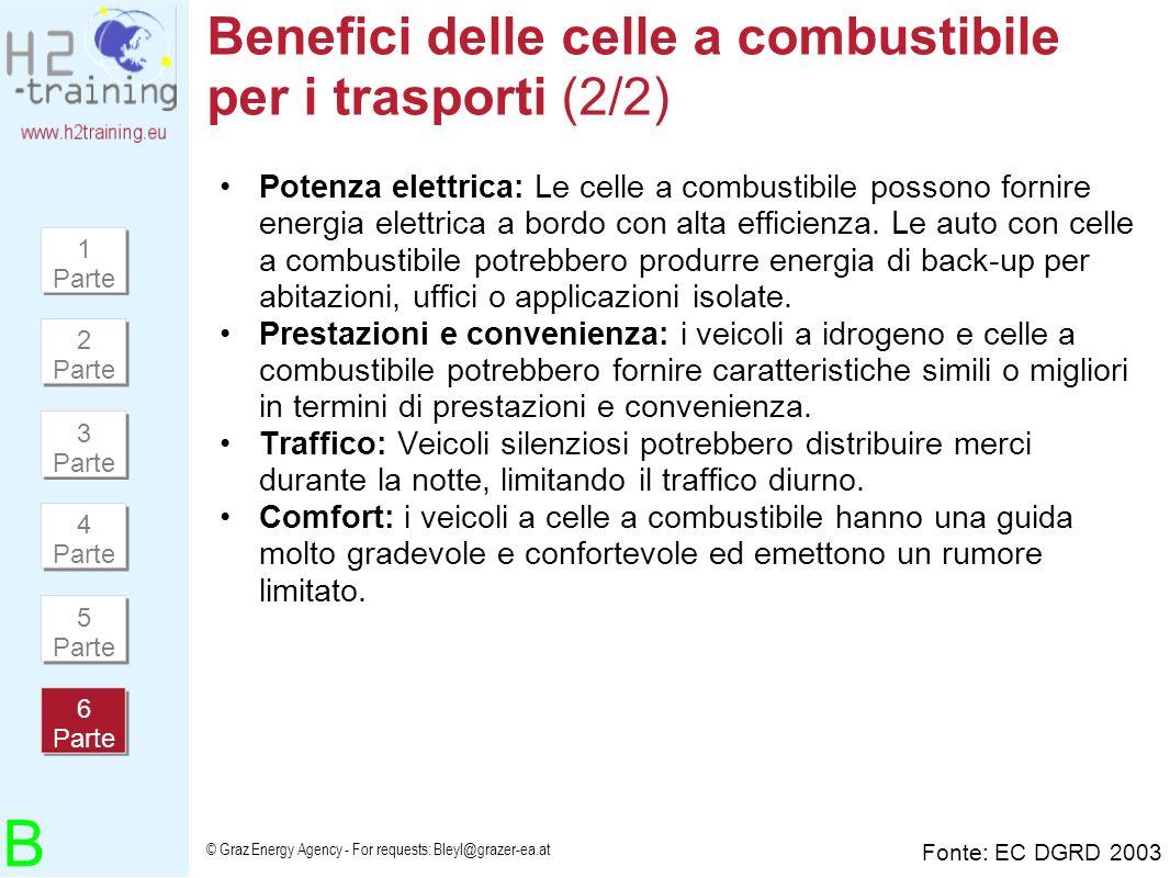 Benefici delle celle a combustibile per i trasporti (2/2)