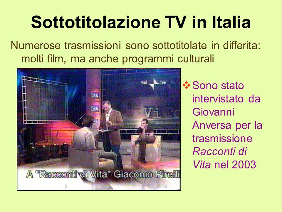 Sottotitolazione TV in Italia