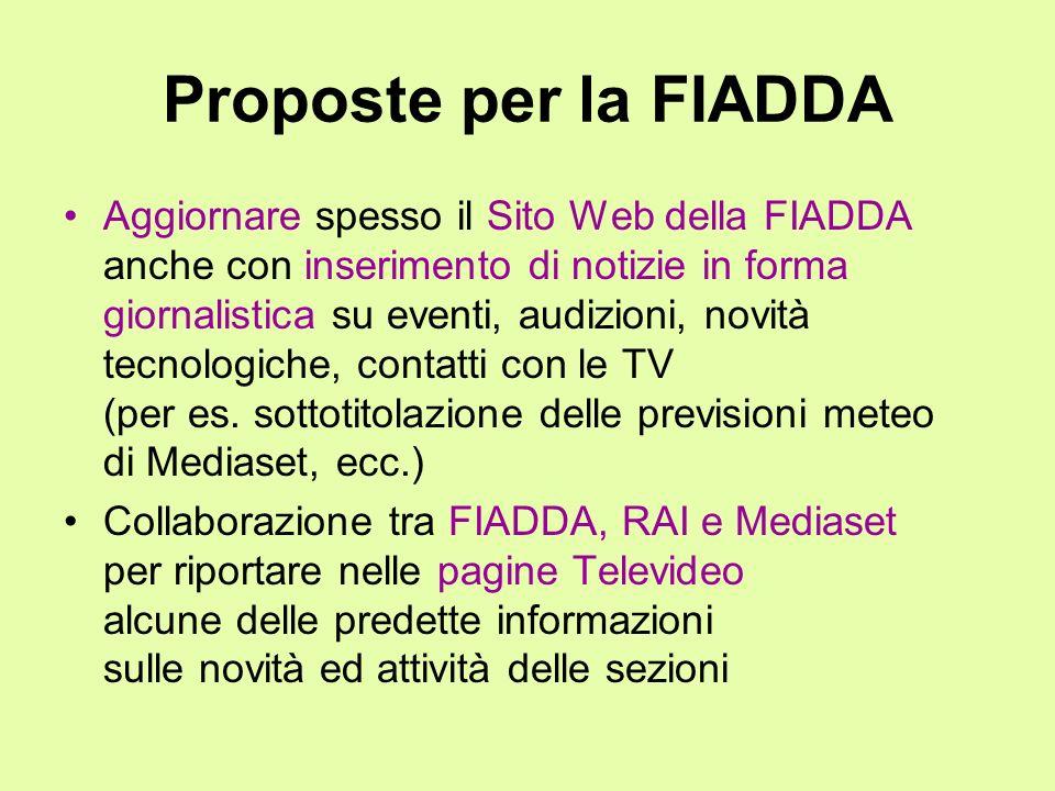Proposte per la FIADDA