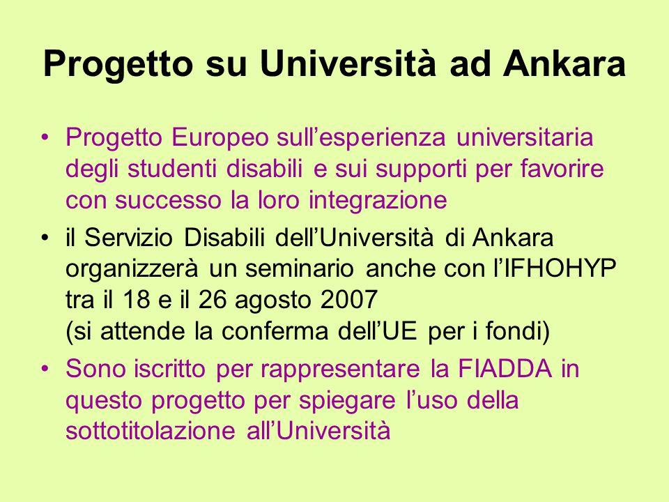 Progetto su Università ad Ankara
