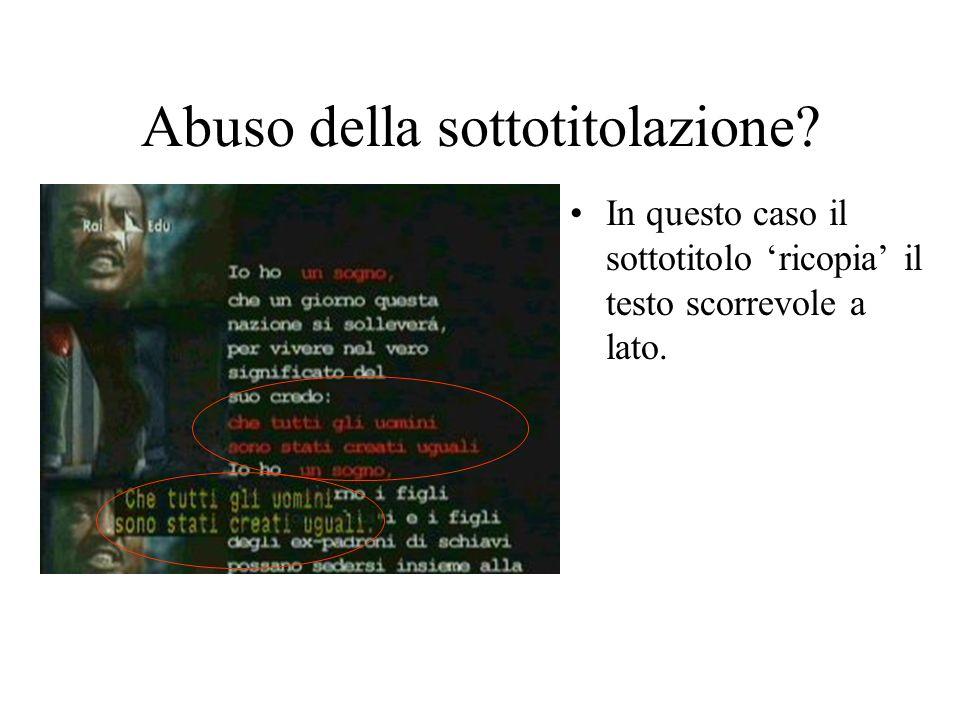 Abuso della sottotitolazione