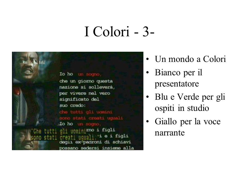 I Colori - 3- Un mondo a Colori Bianco per il presentatore