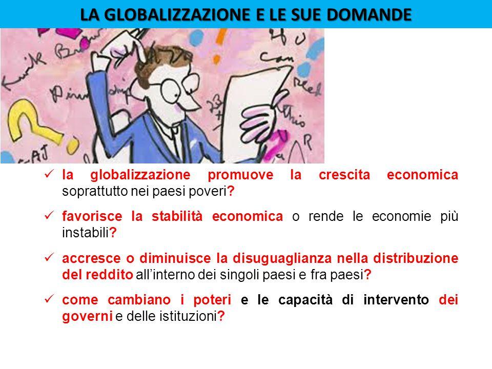 LA GLOBALIZZAZIONE E LE SUE DOMANDE