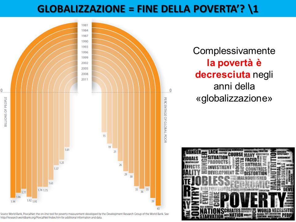Globalizzazione = fine della poverta' \1