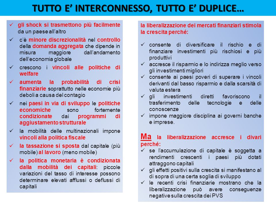 TUTTO E' INTERCONNESSO, TUTTO E' DUPLICE…